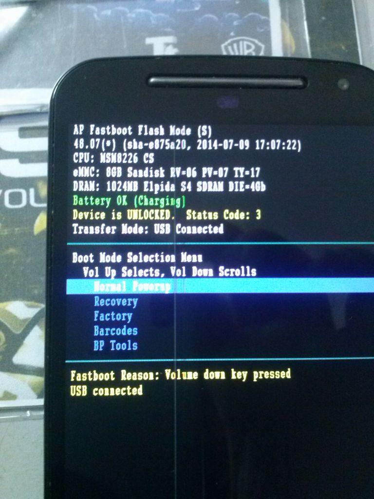 Moto G2 1067 - não funciona stock rom - Celulares