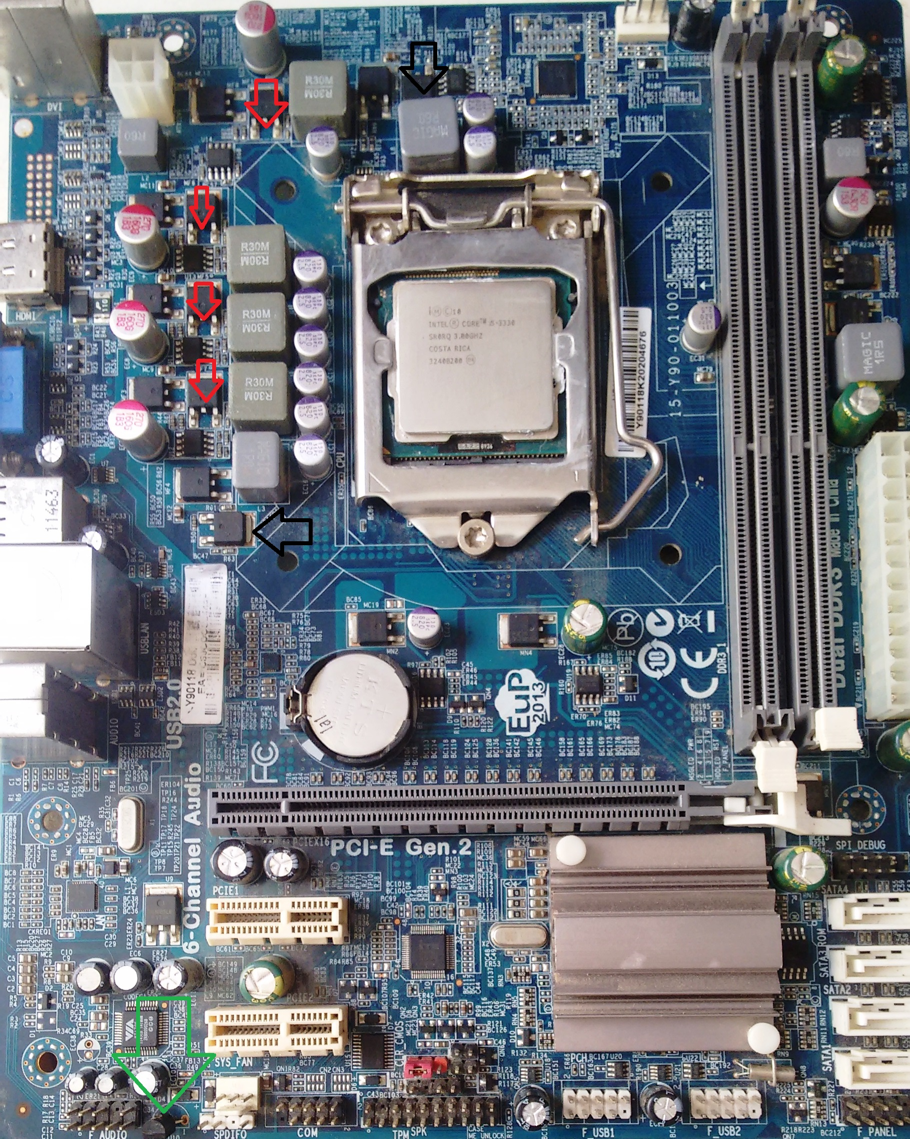 ECS - H61H2-M2 - Roda o cooler e para - Motherboards, PCs, All in