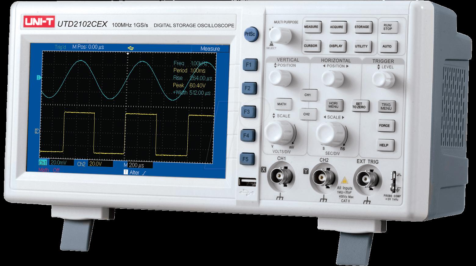 Ganhe um Osciloscópio Digital 100MHz 2 canais