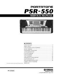 Manual de serviço do teclado YAMAHA PSR-550