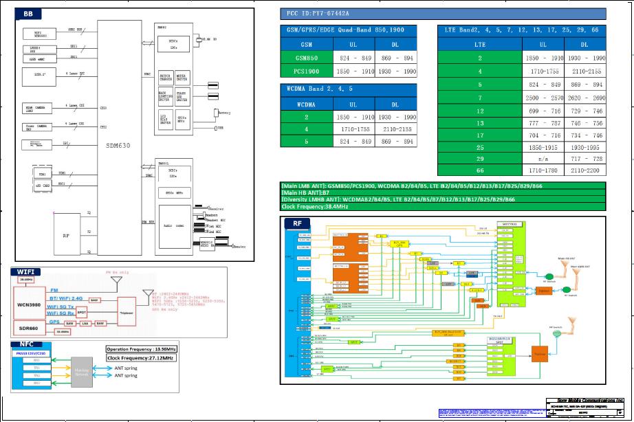 Sony Xperia XA2 Ultra & Ultra Dual H3213 H3223 H4213 H4223 H4233 GA-527 PY7-67442A 601PP2 REV BF (0D)